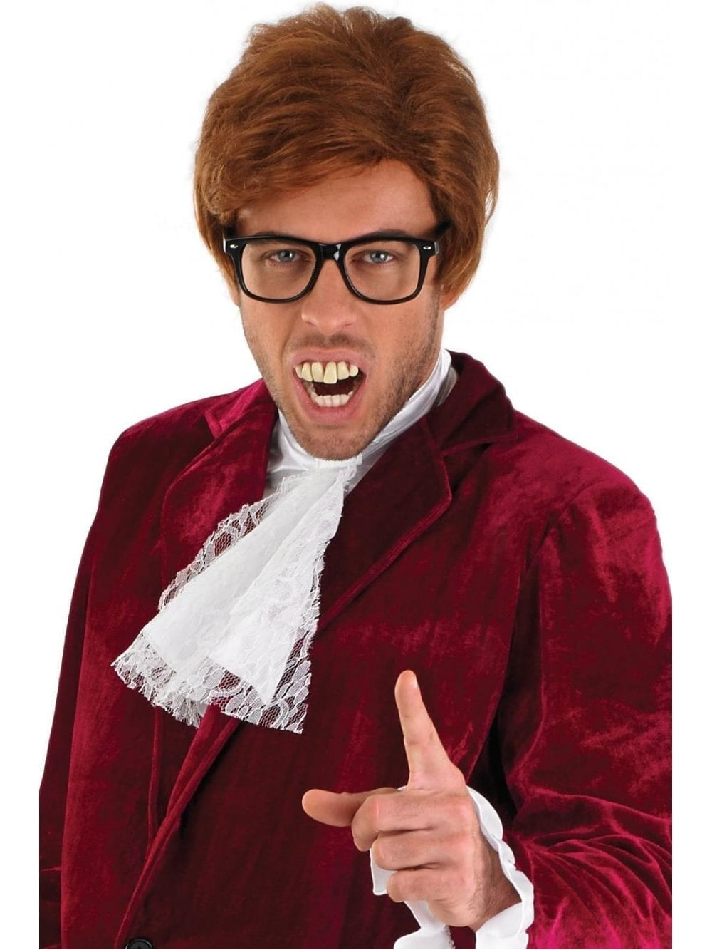 Red Austin Powers Costume 60 S Fancy Dress Play Party