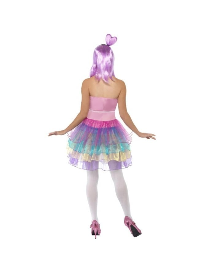 Candy Queen Wig Lilac Katy Heart Dress Smiffys Perry Fancy