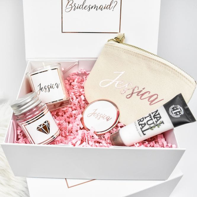 Will You Be My? Proposal Gift Box Filled Rose Gold